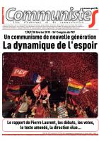 Journal CommunisteS n507 - Spcial 36e congrs - 13 fvrier 2013