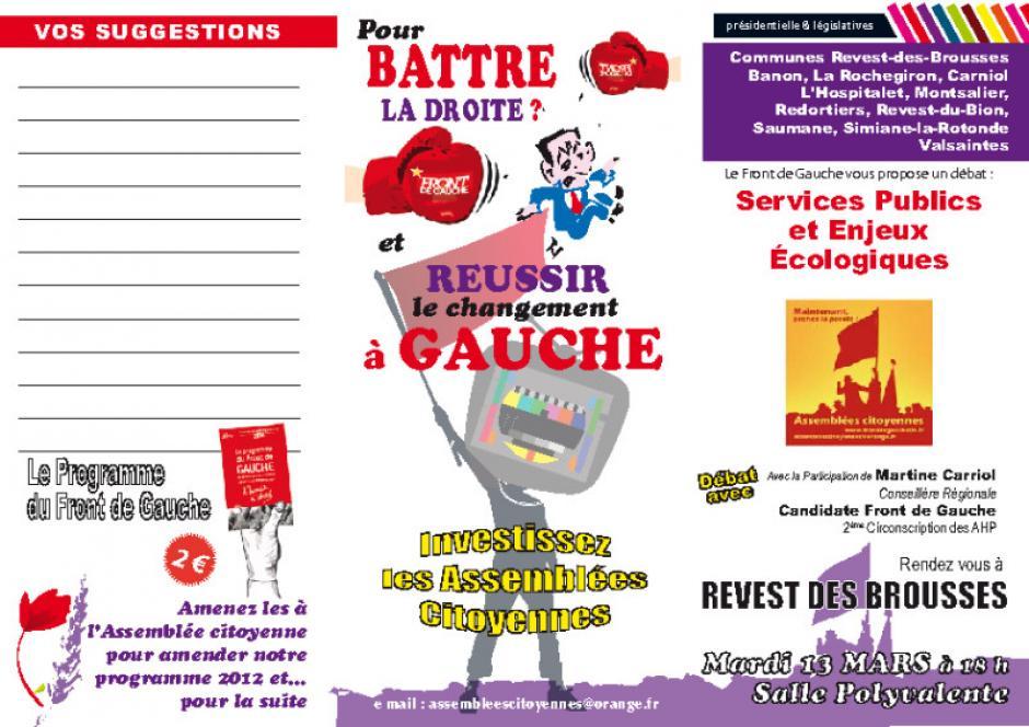 Assemblée citoyenne sur les Services Publiques Revest des Brousses