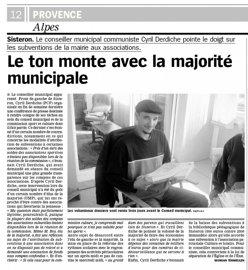 Le ton monte avec la majorité municipale (02/06/2014)