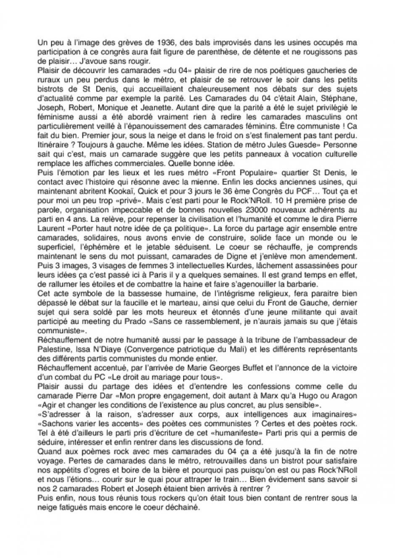 CR du 36 Congrès à Paris Depeuille Jeannette