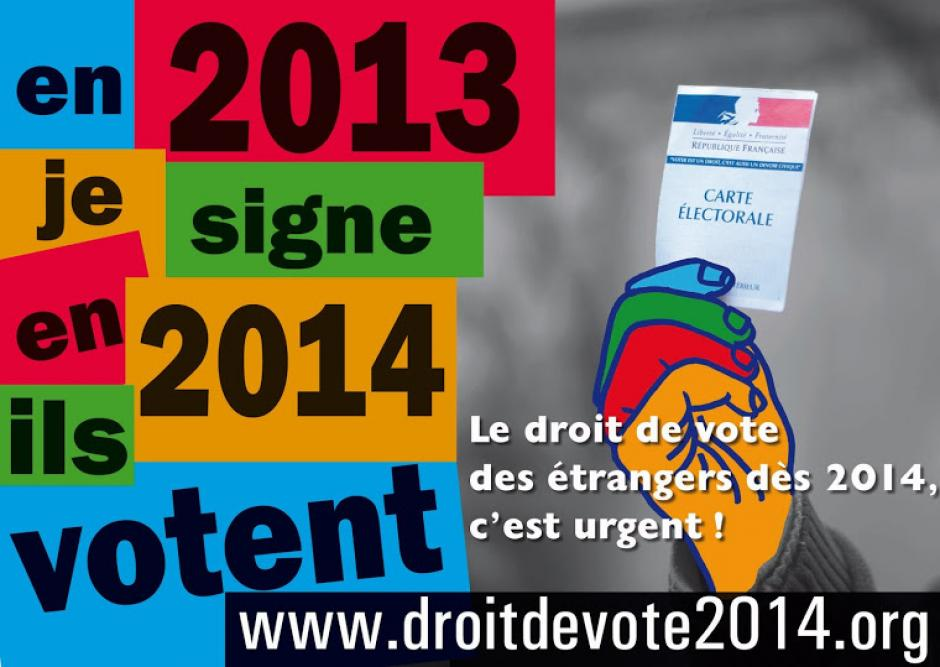 CAMPAGNE - Le droit de vote des rsidents trangers, c'est maintenant !