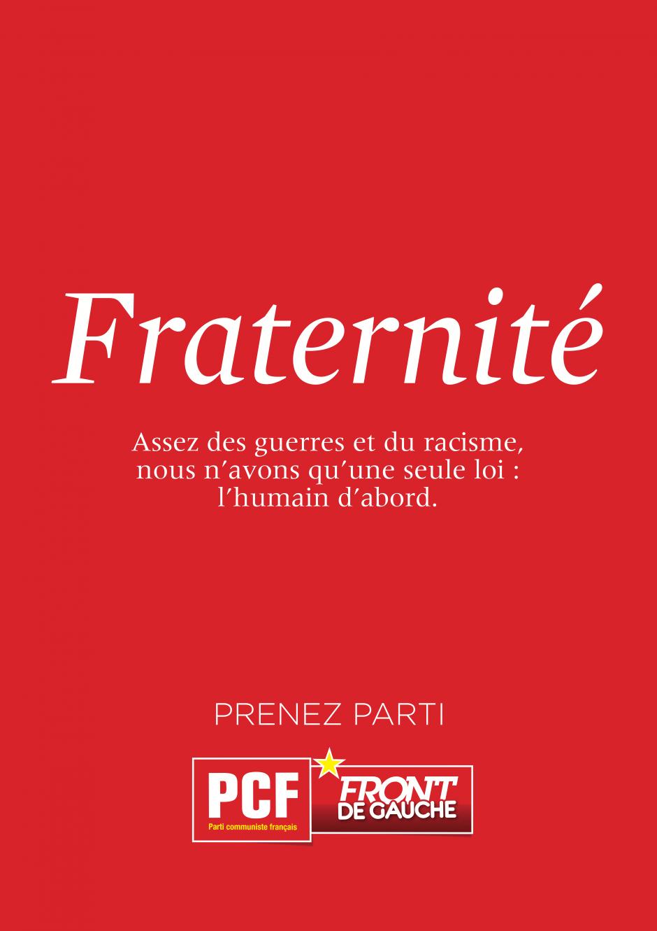 AFFICHE FRATERNITE