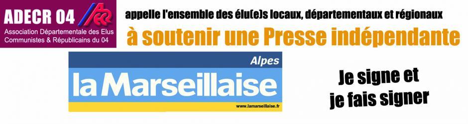 L'ADECR 04 soutient La Marseillaise