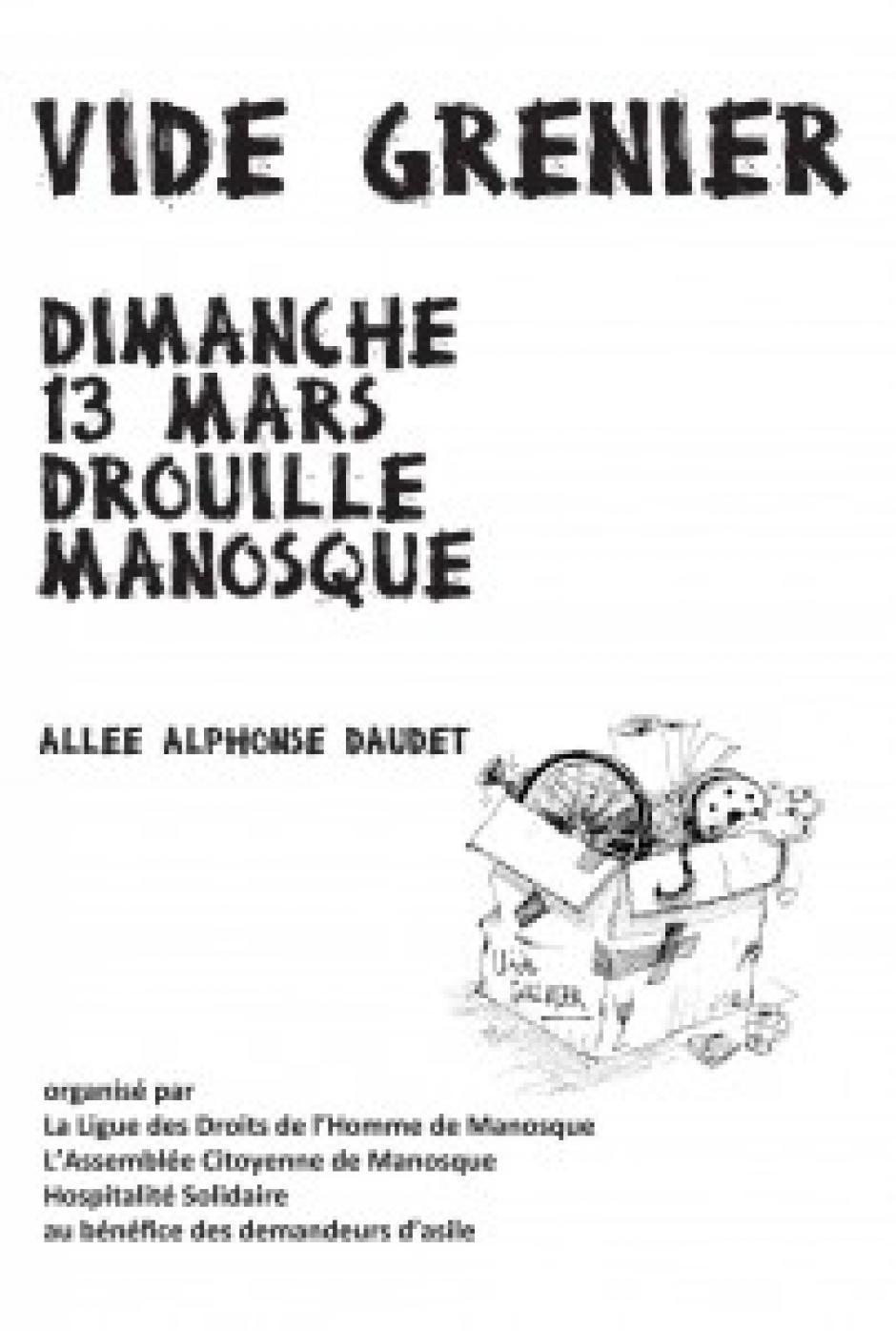 Vide Grenier à Manosque : Dimanche 13/03/2016