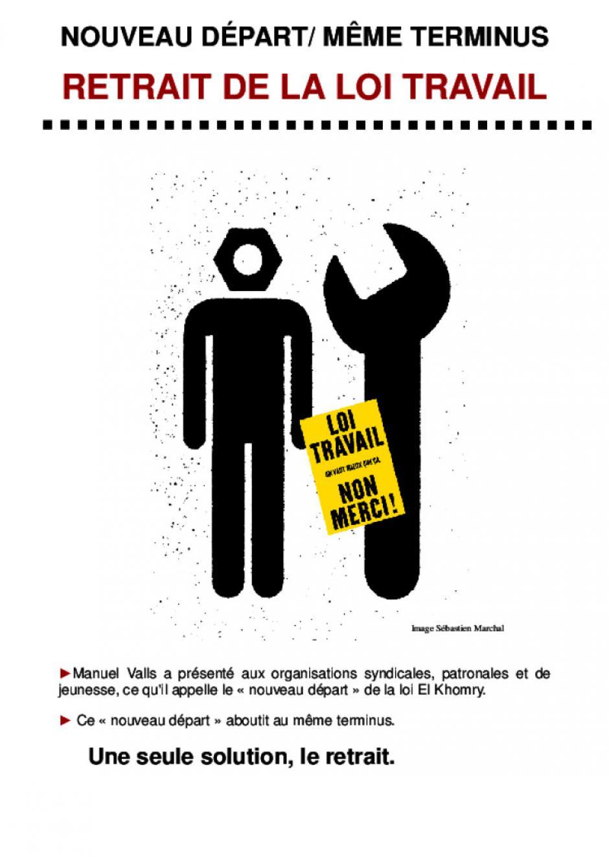 17 mars: mobilisation contre la loi travail. Tract du PCF