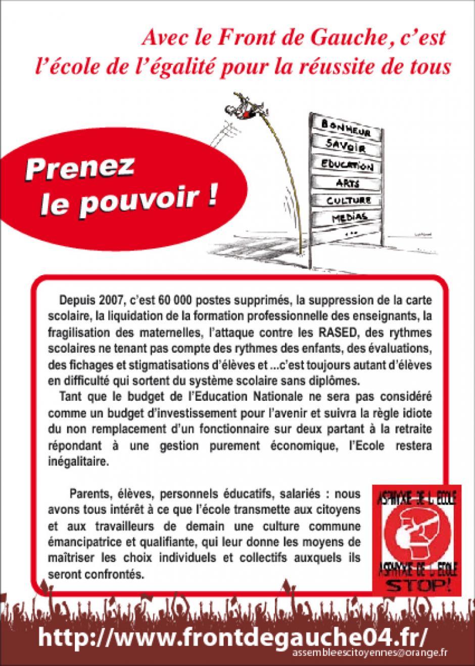Manif et distribution de tract devant la préfecture