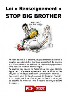 Loi Renseignement : stop Big Brother !