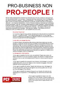 TRACT - PRO-BUSINESS NON PRO-PEOPLE !