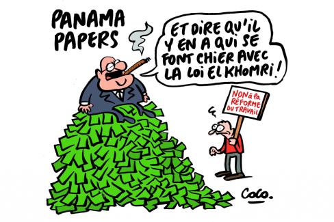 Panama papers : les salarié-e-s sont pressurés par la loi El-Khomri et l'argent coule à flot vers les paradis fiscaux