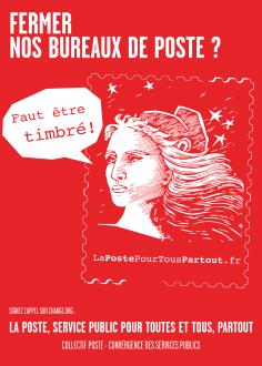 Le 8 décembre, tous mobilisé-e-s pour défendre nos bureaux de poste