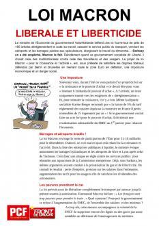TRACT - Loi Macron : libérale et liberticide