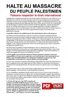 TRACT - HALTE AU MASSACRE DU PEUPLE PALESTINIEN  Faisons respecter le droit international